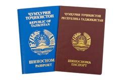 Tajikistan paspoorten Royalty-vrije Stock Fotografie