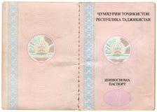 Tajikistan passport Stock Image