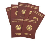 Tajikistan passports Stock Photography