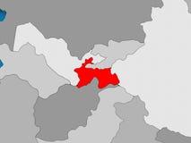 Map of Tajikistan Stock Image