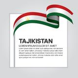 Tajikistan flag background. Tajikistan ribbon flag on background creative template. Simple work and adjusted to suit your needs Royalty Free Stock Photos