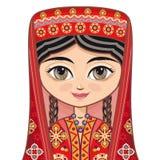 tajikistan Roupa histórica ilustração do vetor