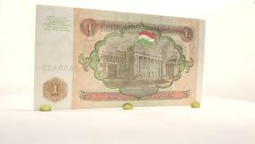 Tajikistan 1 Ruble stock video