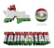 Tajikistan Symbols Stock Image