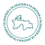 Tajikistan vector map. Stock Image