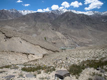 Tajikistan. View from the Pamir Highway on the river Panj Stock Images
