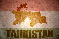Tajikistan vintage map Stock Photography