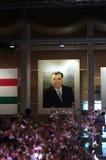Tajikistanpräsident pictrue im Tajikista Pavillion Stockfotografie
