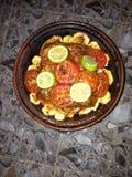 Tajin de poisson. Cuisine Maroc yyymmm Stock Images