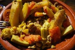 Tajine,摩洛哥的全国盘 库存图片