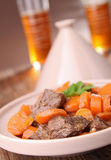 Tajine, beef and carrot Royalty Free Stock Images