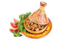 Tajine with beef Stock Images