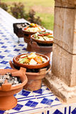 Tajine cooking at restaurant in morocco Africa Royalty Free Stock Photos