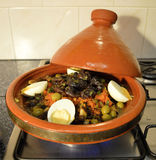 Tajine with eggs Stock Photos