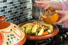 Tajine meal with chickpeas Royalty Free Stock Photo