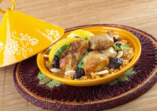 Tajine, moroccan chicken with lemon confit Stock Image