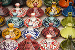 Moroccan Tajines in Marrakech Royalty Free Stock Photo