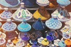 Tajines в рынке Стоковые Фото