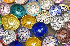 Tajines i marknaden, Marocko Royaltyfri Fotografi