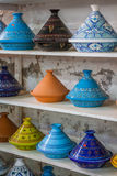 Tajines in the market, Marrakesh,Morocco Stock Photo