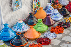Tajines in the market, Marrakesh,Morocco Royalty Free Stock Photo