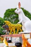 Tajlandia Ð ¡ zodiaka hinese statuy W Koh Samui Podróż, turystyka obrazy stock