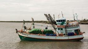 Tajlandia łodzie rybackie Zamknięte up na morzu Obraz Stock