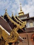 Tajlandia świątynia przy północą fotografia stock