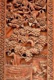 Tajlandia świątynie rzeźbili drzwi Zdjęcia Royalty Free