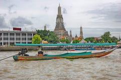 Tajlandia Bangkok Chao Phraya Rzeczna łódź Zdjęcie Stock