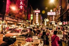 Tajlandia Bangkok miasta ulic rynku Porcelanowa Grodzka noc 04 10 2015 - 2 Zdjęcia Stock