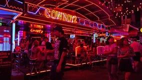 Tajlandia, Bangkok, zolu kowboj zbiory wideo