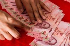 Tajlandia banknoty dekorują dla ślubnej ceremonii w tajlandzkiej kulturze Zdjęcia Royalty Free