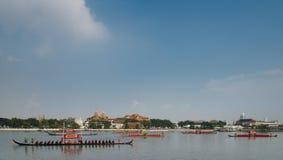 Tajlandia barki Królewski korowód Zdjęcie Royalty Free