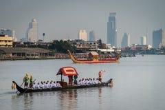 Tajlandia barki Królewski korowód Fotografia Royalty Free