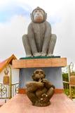 Tajlandia Chińskie zodiak statuy małpy W Samui Podróż, Zdjęcie Stock