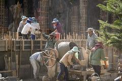 TAJLANDIA CHIANG RAJA budowy kobiet pracownik Obrazy Stock