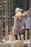 TAJLANDIA CHIANG RAJA budowy kobiet pracownik Fotografia Stock