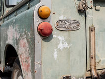 Tajlandia, Chonburi: Land Rover serii 3 frontowy tylni kąt pict Zdjęcie Stock