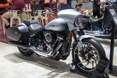 Tajlandia, Dec -, 2018: Harley Davidson sporta suni?cia motocyklu przedstawienie w motorowym expo zdjęcie royalty free