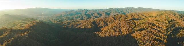 Tajlandia dolina Panoramiczny powietrzny trutnia przegląd zdjęcia royalty free