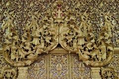 Tajlandia drewniany cyzelowanie Zdjęcia Stock