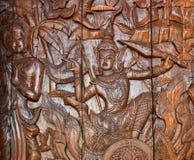 Tajlandia drewniany cyzelowanie obraz royalty free