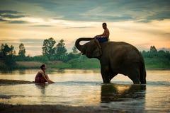 Tajlandia Dwa zaludnia mężczyzna i kobiety rozochoconych Zdjęcia Stock