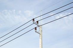Tajlandia elektryczny słup obrazy royalty free