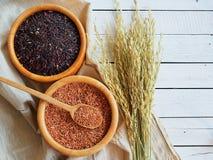 Tajlandia jaśminowi brown ryż Zdjęcie Stock