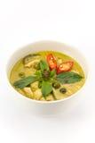 Zielona curry polewka Obrazy Royalty Free