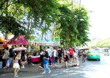 Tajlandia: JJ Wprowadzać na rynek, weekendu rynek dla everyone od dookoła świata Fotografia Royalty Free