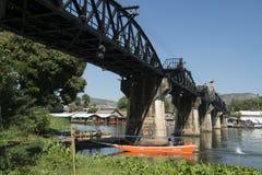 TAJLANDIA KANCHANABURI KOLEJOWEGO mosta ŚMIERTELNA rzeka KWAI Zdjęcie Royalty Free