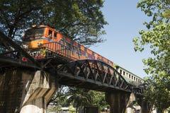 TAJLANDIA KANCHANABURI KOLEJOWEGO mosta ŚMIERTELNA rzeka KWAI Obrazy Royalty Free
